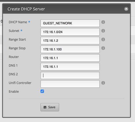 Add DHCP Server