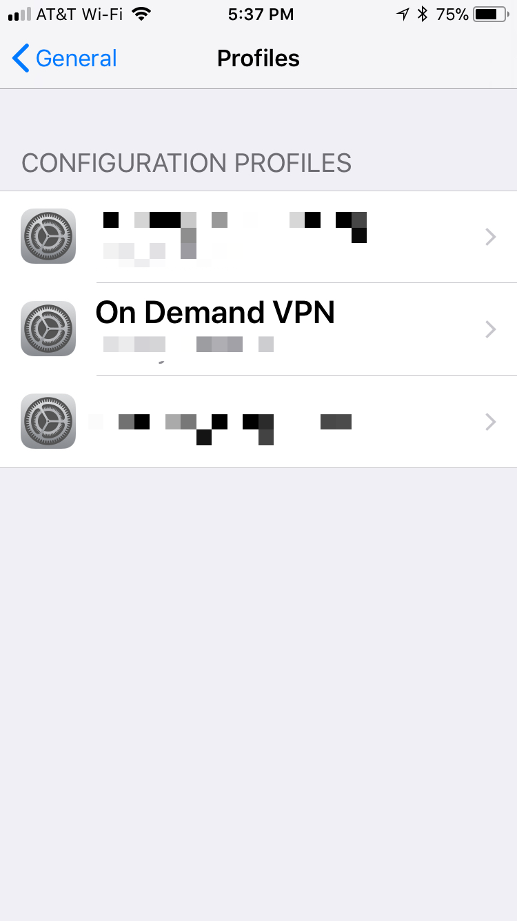 iOS Profiles