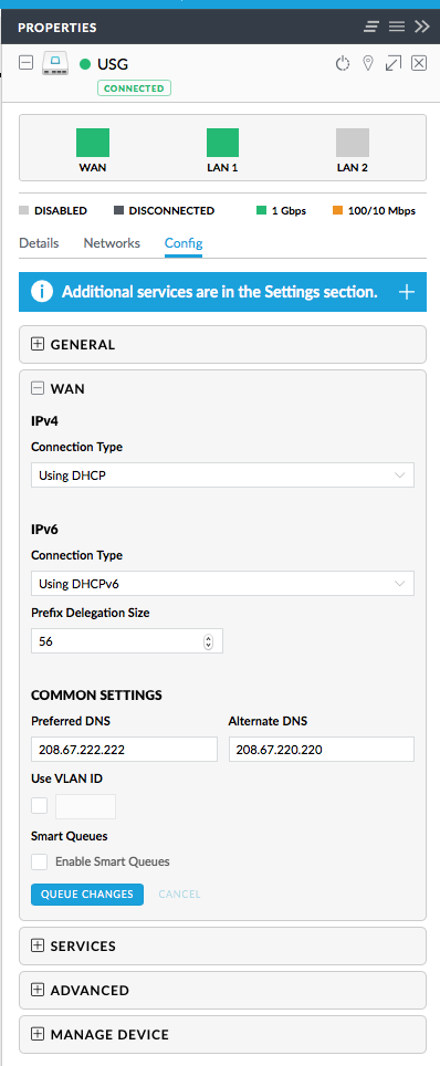 USG Configuration